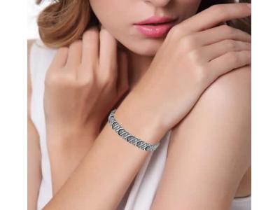 Титанова магнитна гривна, Унисекс Сребрист цвят, модел 2017